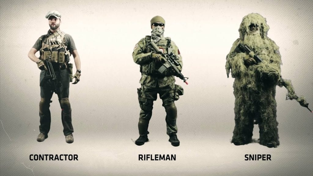 airsoft clothing options