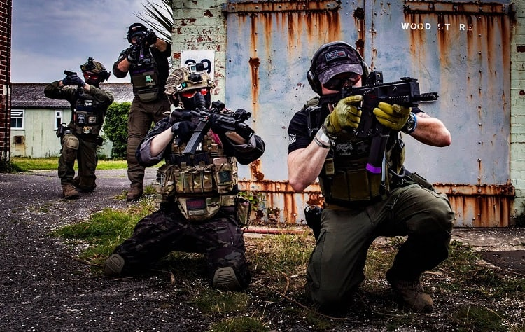 Playing Team Deathmatch Airsoft