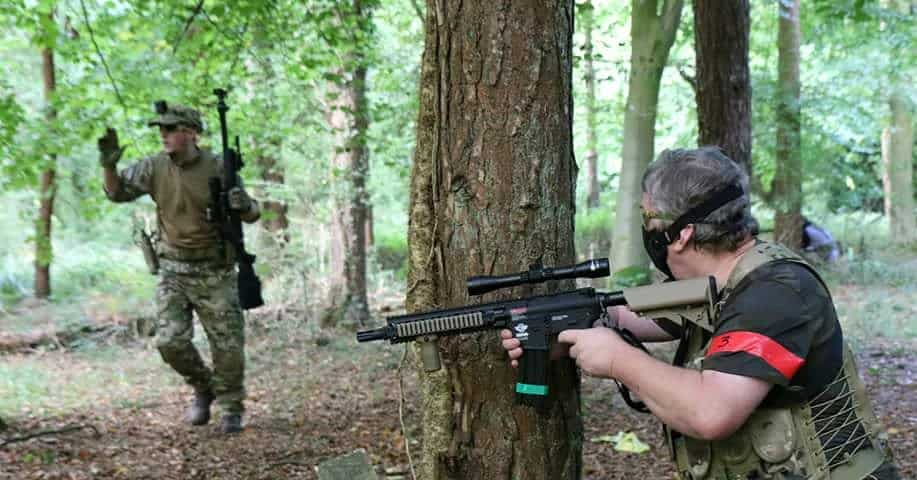 Surrendering Airsoft Sniper