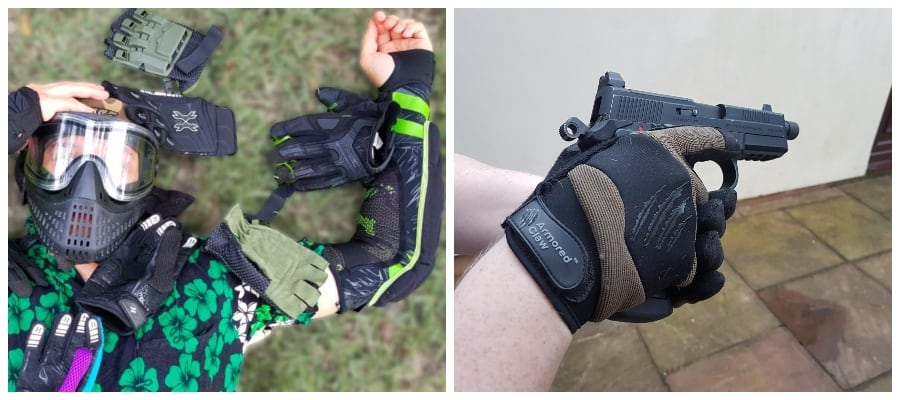 Paintball vs Airsoft gloves