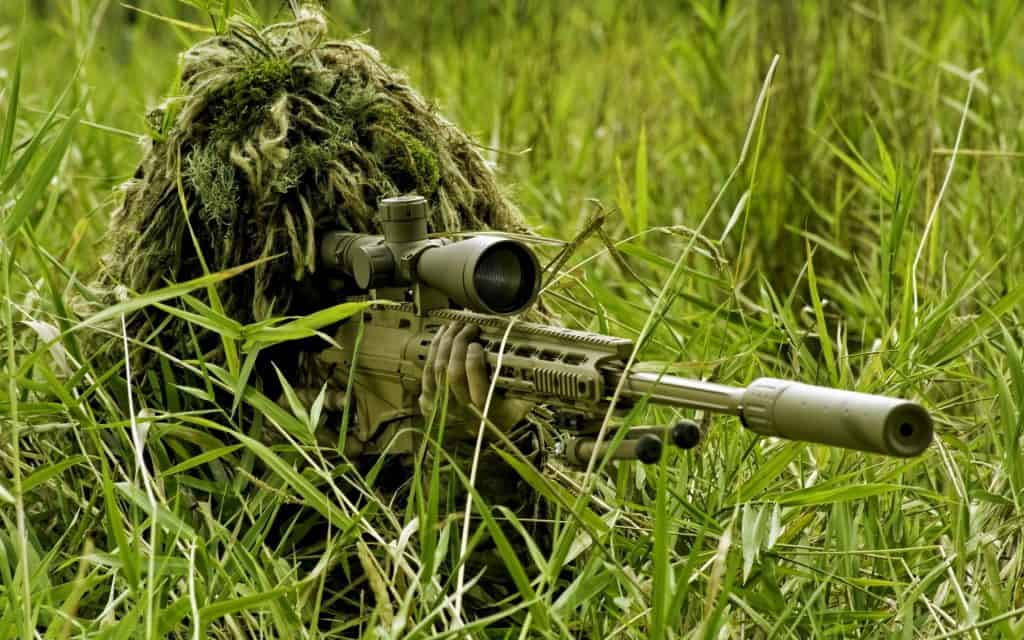 Masking yourself for airsoft sniping